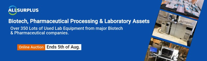Auction Event: BioPharma Equipment - Biotech, Pharmaceutical Processing & Laboratory Assets