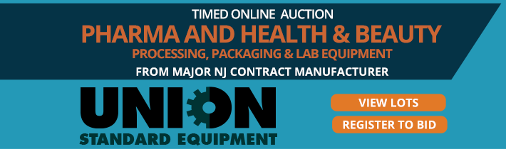 Auction: Major NJ Pharma, Cosmetic & Food Contract Manufacturer